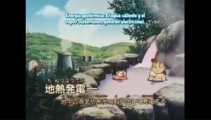Nobita se baña con Shizuka