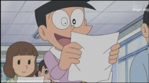 Doraemon Capitulo 152 Crisis con la nota de suneo