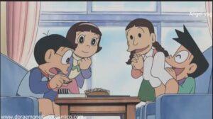 Doraemon Capitulo 283 Los guantes de animadora que llama a la victoria