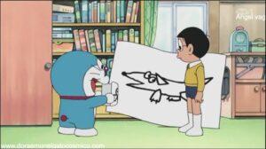 Doraemon Capitulo 385 La mascota de Nobita es un perro de papel