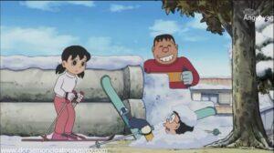 Doraemon Capitulo 386 Si nobita no puede ir a esquiar que la pista de esqui venga a nobita